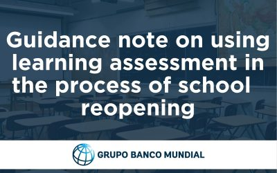 Guidance note on using learning assessment in the process of school reoponeing